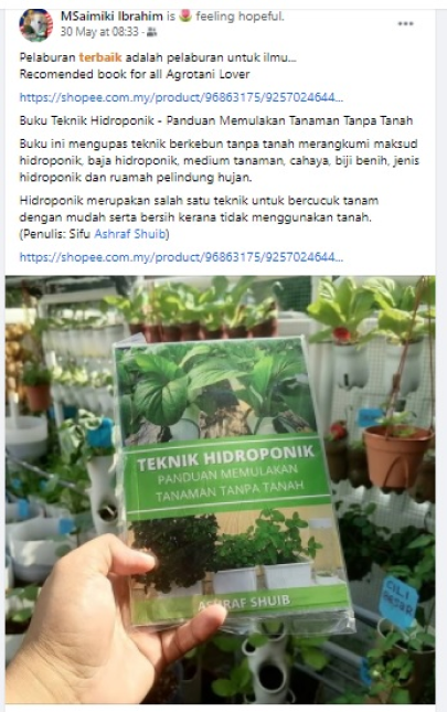 facebook buku hidroponik